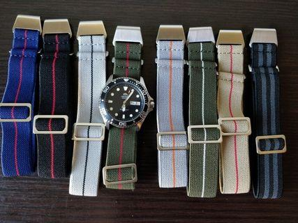 SALES!! Buy 3 straps and abv for 10% discount.suitable for skx, steinhart , diver watches, omega, Rolex, Dan henry, submariner, citizen, apple watch series 4/3/2/1 (42/44mm) and other models