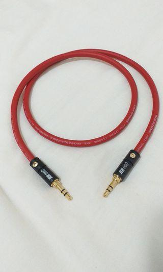 3.5mm trs Aux Interconnect Vandamme Cable