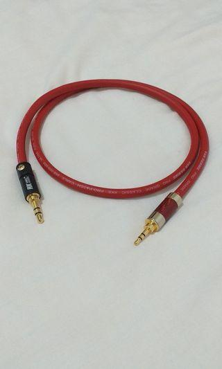 3.5mm trs to 2.5mm trs Aux Interconnect Vandamme Cable