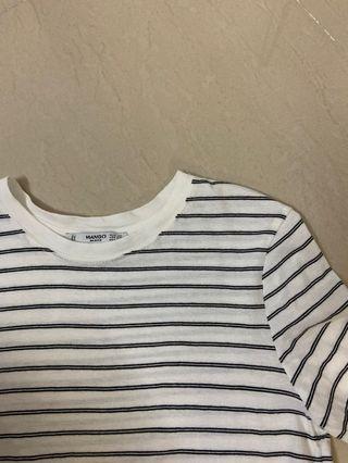 white striped tee