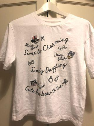 UNIQLO Disney Cotton top . Wore once excellent condition like new.