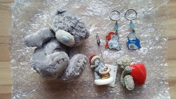 Kalms Tatty Teddy Plush Figurine Keychain