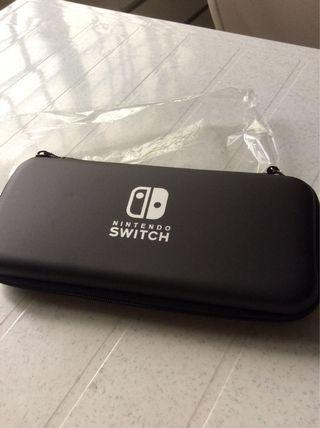 Brand New hand carry Nintendo switch case cover with strap black