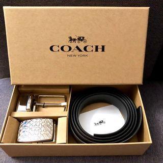 ✨Coach Belt Box Set New Authentic BNWT