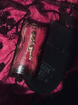NEW💕ANNA SUI x Sailor Moon Space-Time Key - Antique Patina Key With Butterfly Cloisonné, Aurora Borealis, and Crystal Rhinestones💠