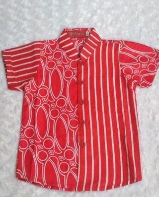 Batik Tshirt Boy Red Colour