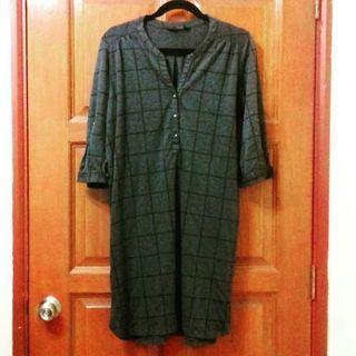 (Plus Size) DOROTHY PERKINS Grey Check Jersey Shirt Dress #CarousellFaster
