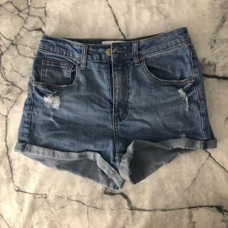 Suprè Ripped Bleu Shorts