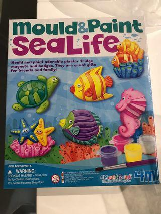 🚚 Mould and paint sealife: children craft gift