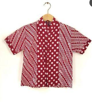 Red Tshirt Batik Boys