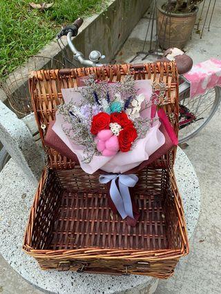 Preserved graduation flower bouquet
