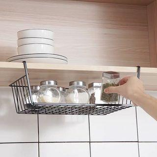 廚房置物架櫥櫃置物架冰箱碗碟調料收納廚房吊櫃懸掛內隔板下掛籃掛櫃子掛架