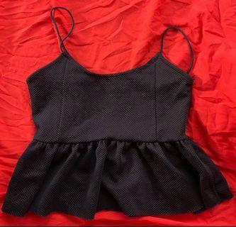 🚚 TEMT Black Ruffle Sleeveless Top