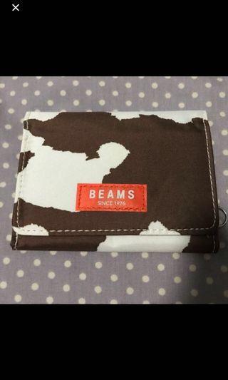 全新beams銀包