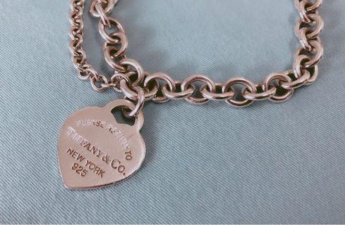 Tiffany&Co. 心牌925 純銀手鍊