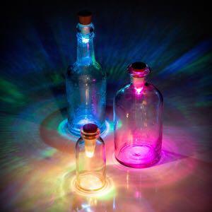 TRIPPY TRANCE FAERIE LIGHT INSTALLATION ✨Suck UK Official Rechargeable USB Fibre Optic Bottle Light Reusable Festival Party Lamp