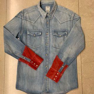 Visvim FIL Red Cuff Denim Shirt