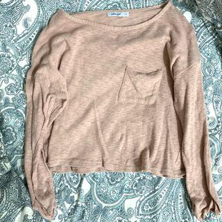 🚚 Valleygirl Cropped Dusty Pink Pullover