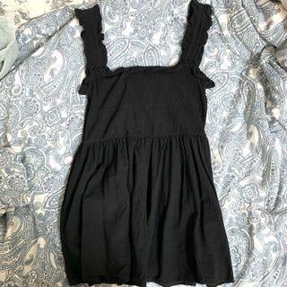 Black Babydoll Ruffle Dress