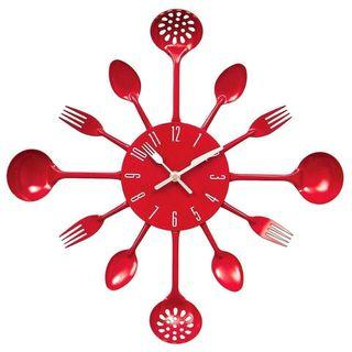🚚 Large Red Kitchen Clock