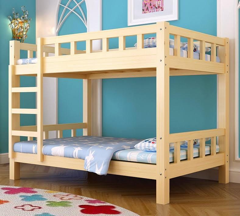 [包送貨] 實木高低床 兒童 上下格床 雙層床 上下舖 兩層子母床 Wood Bunk Bed Wooden