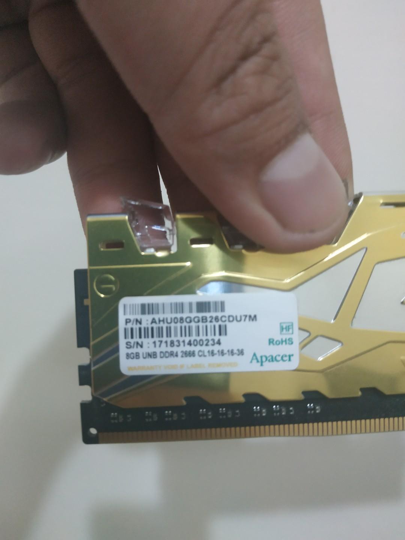 宇瞻 DDR4 2666 4G 9全新