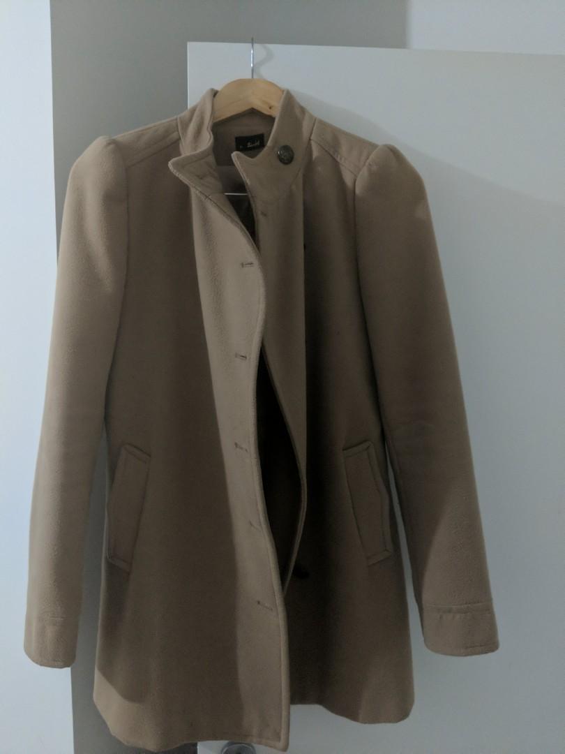 Bardot brown winter coat