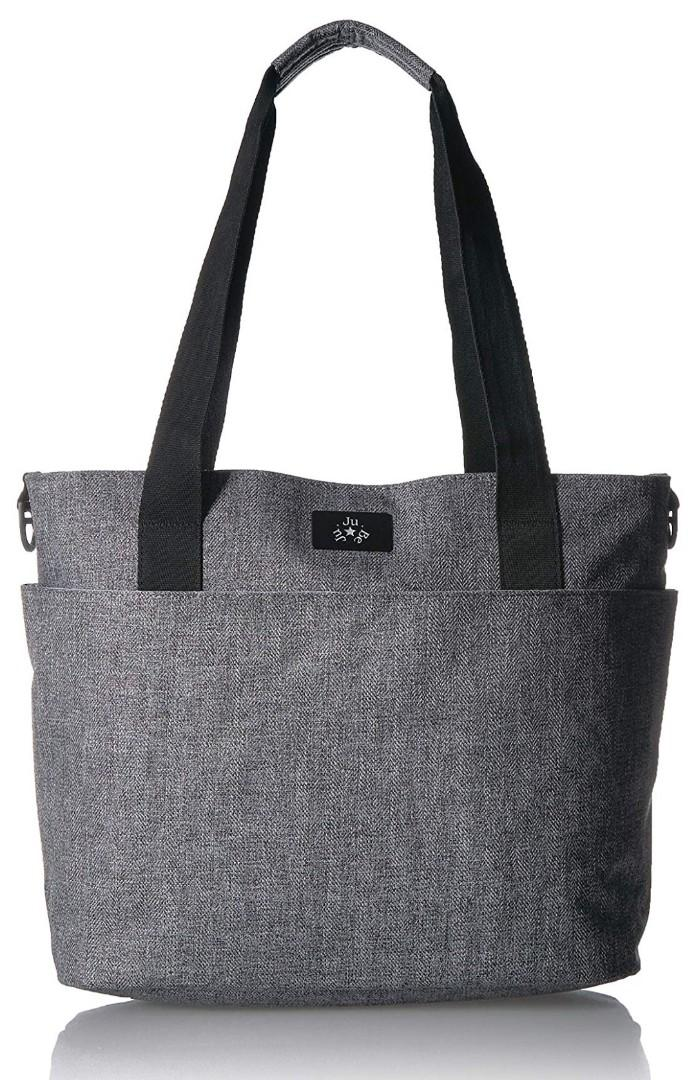 BNIB JuJuBe Encore Lightweight Everyday/Travel Diaper Tote Bag, Classic Collection - Graphite