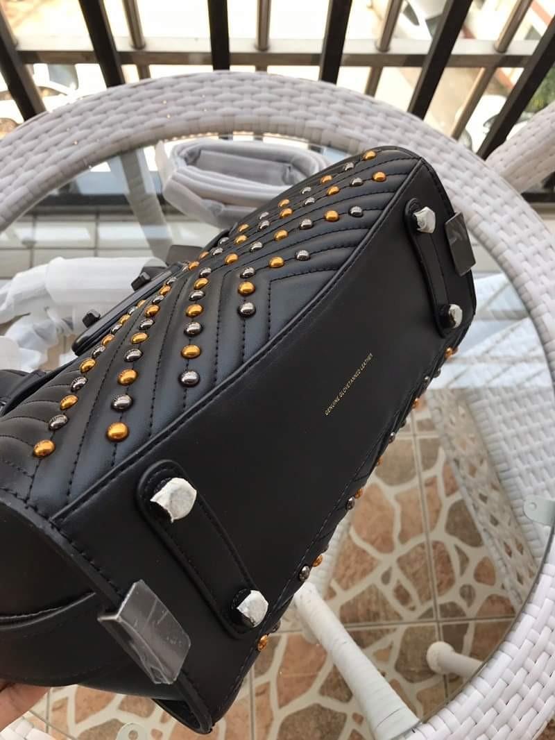 Coach Handbag Black Studed