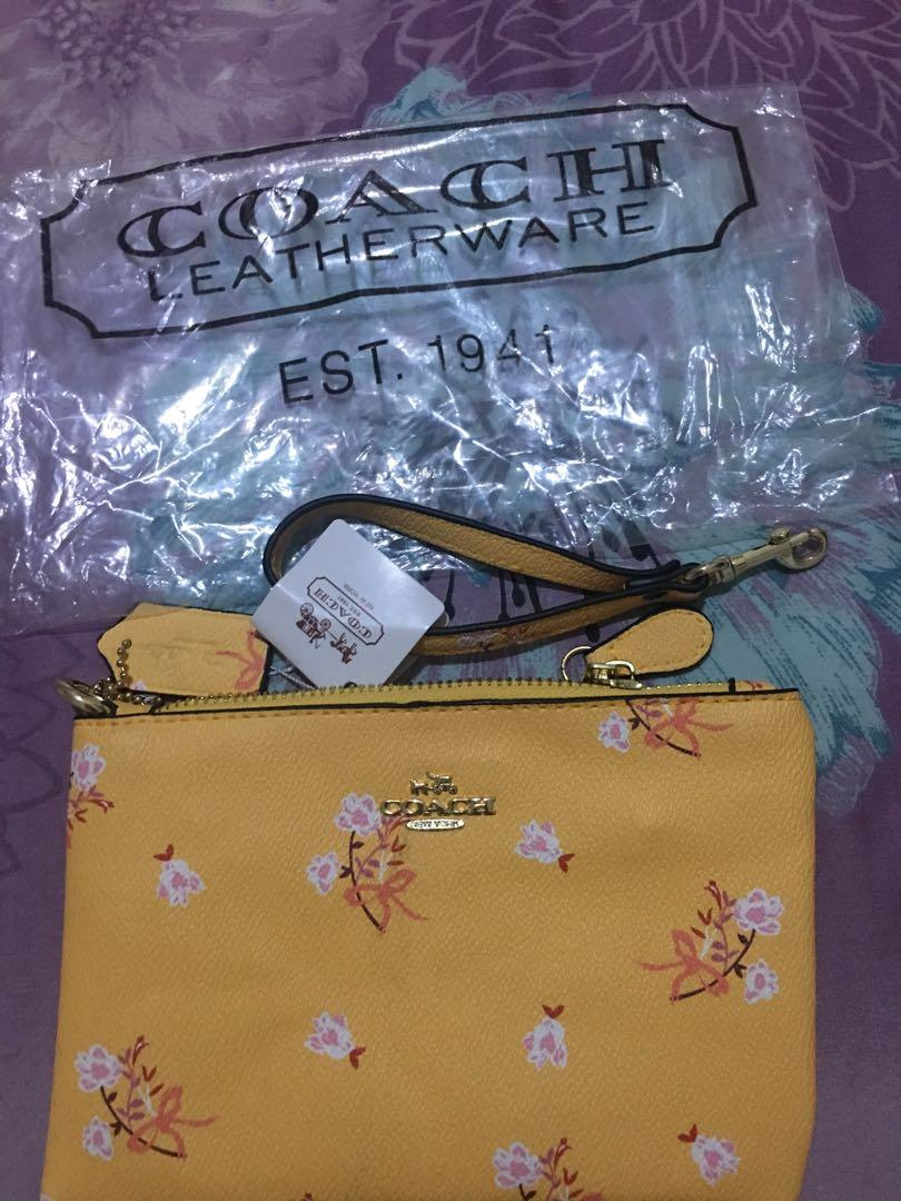 Coach wallet yellow