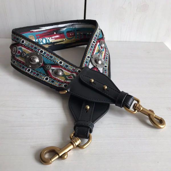 Di0r Embroidered Canvas Shoulder Strap  (More Designs & Colors,Welcome To Request)