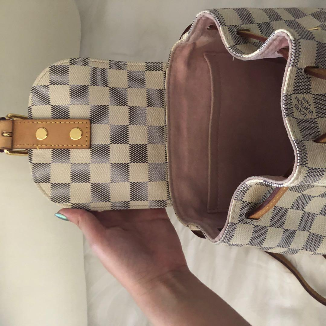 DIJUAL CEPAT ORIGINAL Louis Vuitton Sperone BB Authentic 100% White Backpack Bag