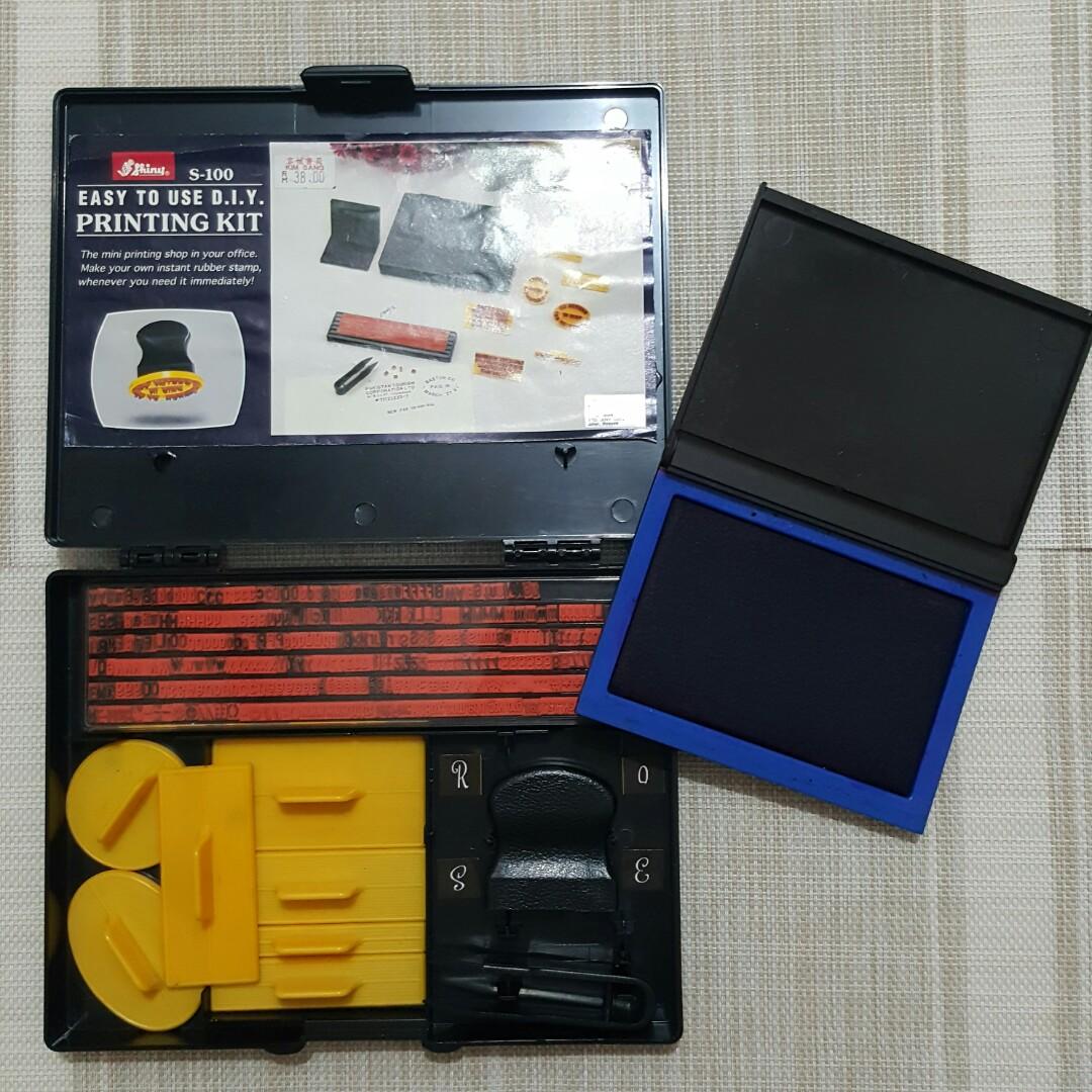 DIY Stamp Chop Printing Kit with Pelikan Ink Pad