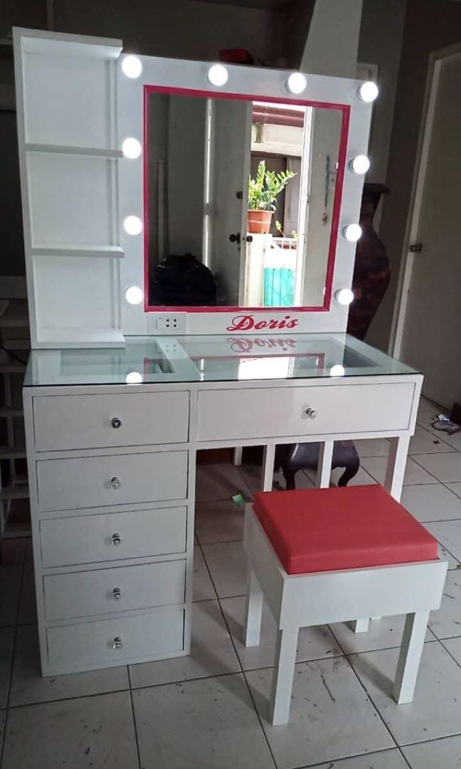 Dresser Set Vanity Mirror With Table