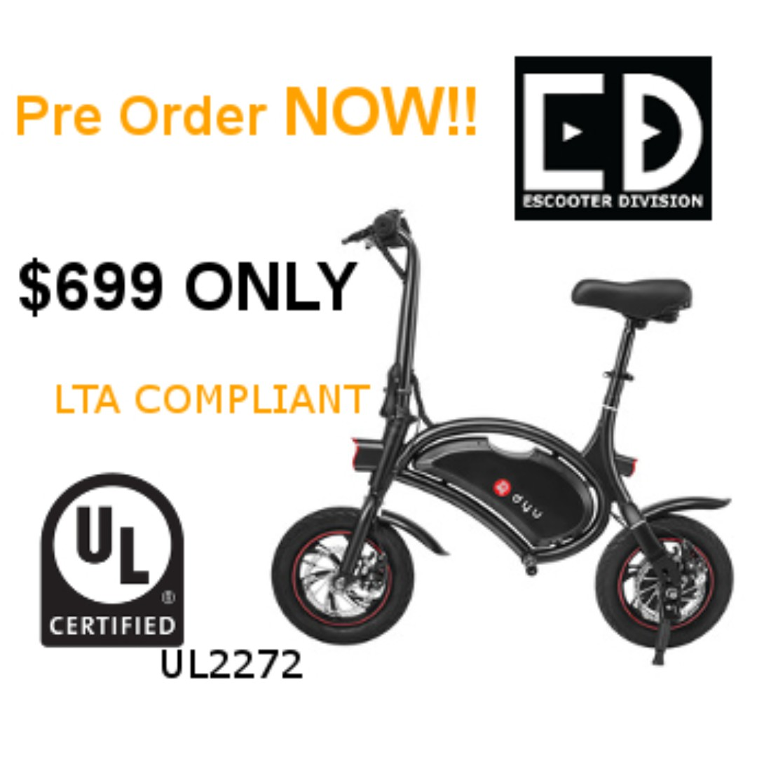 DYU Electric Scooter (UL2272 Certified) Pre Order