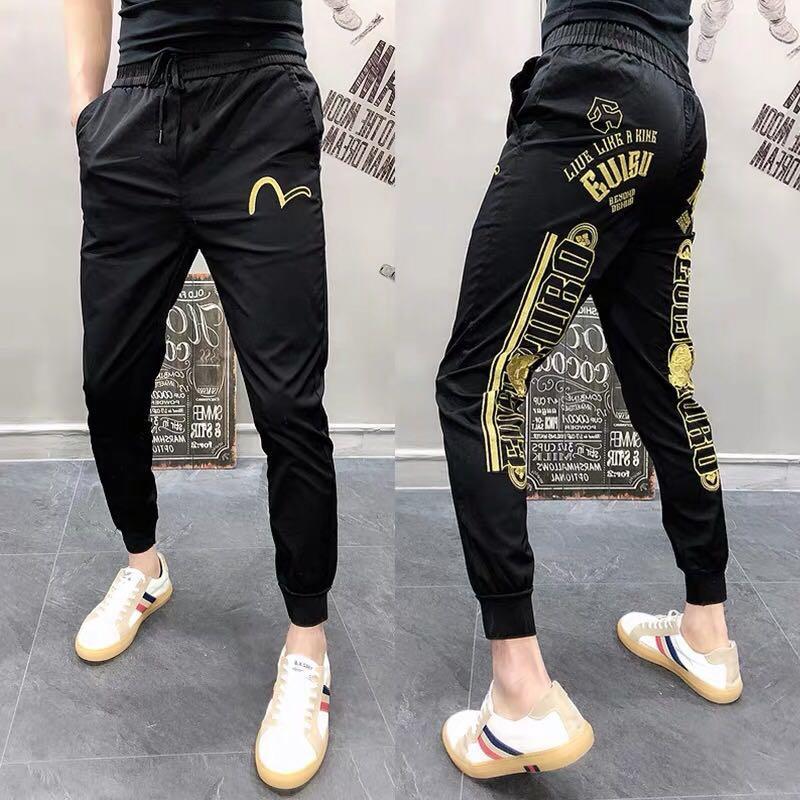 Evisu Style Jogger Pants Men S Fashion Clothes Bottoms On Carousell