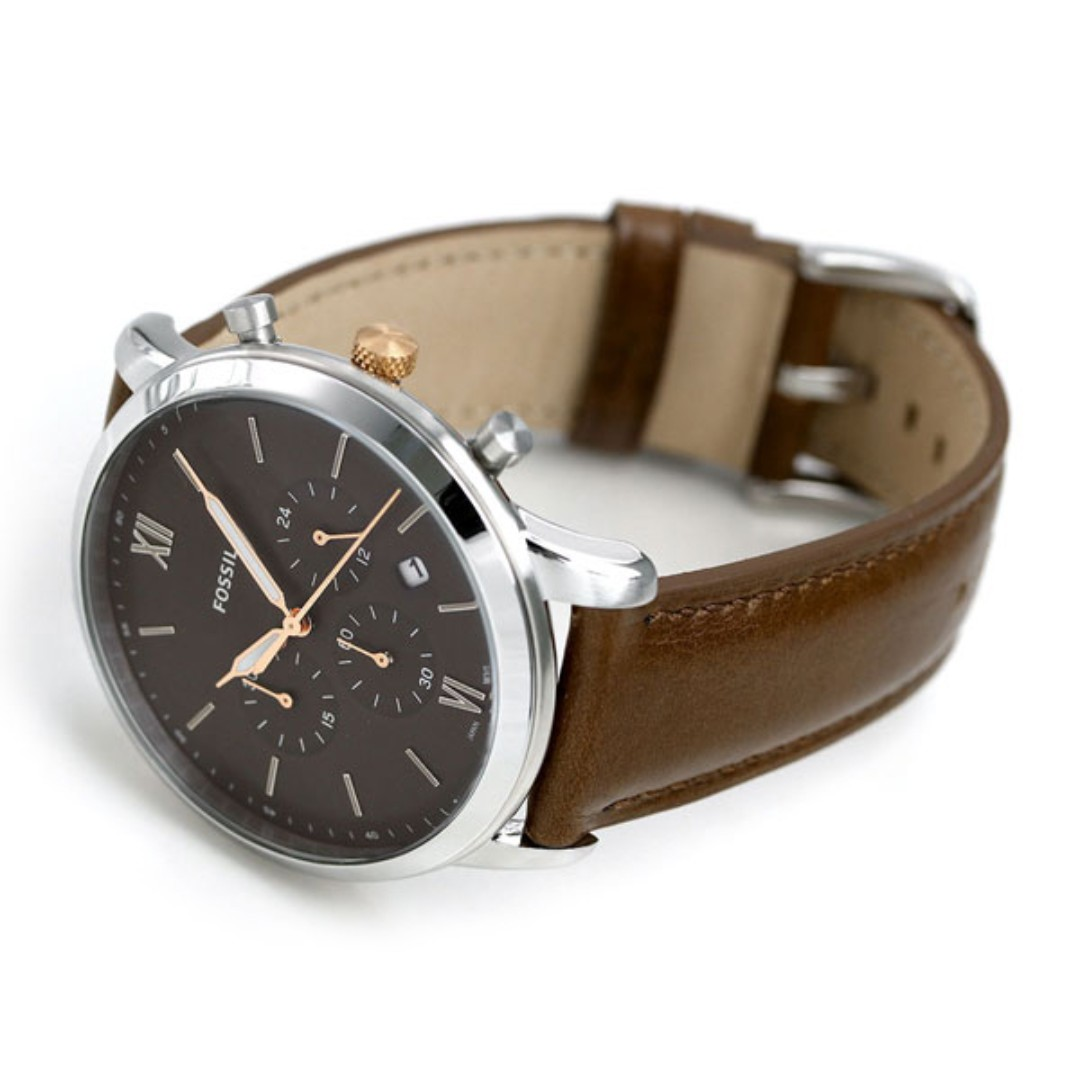 Watch Fs5408 Men's Brown Chronograph Neutra Fossil Leather 0Pw8nOk