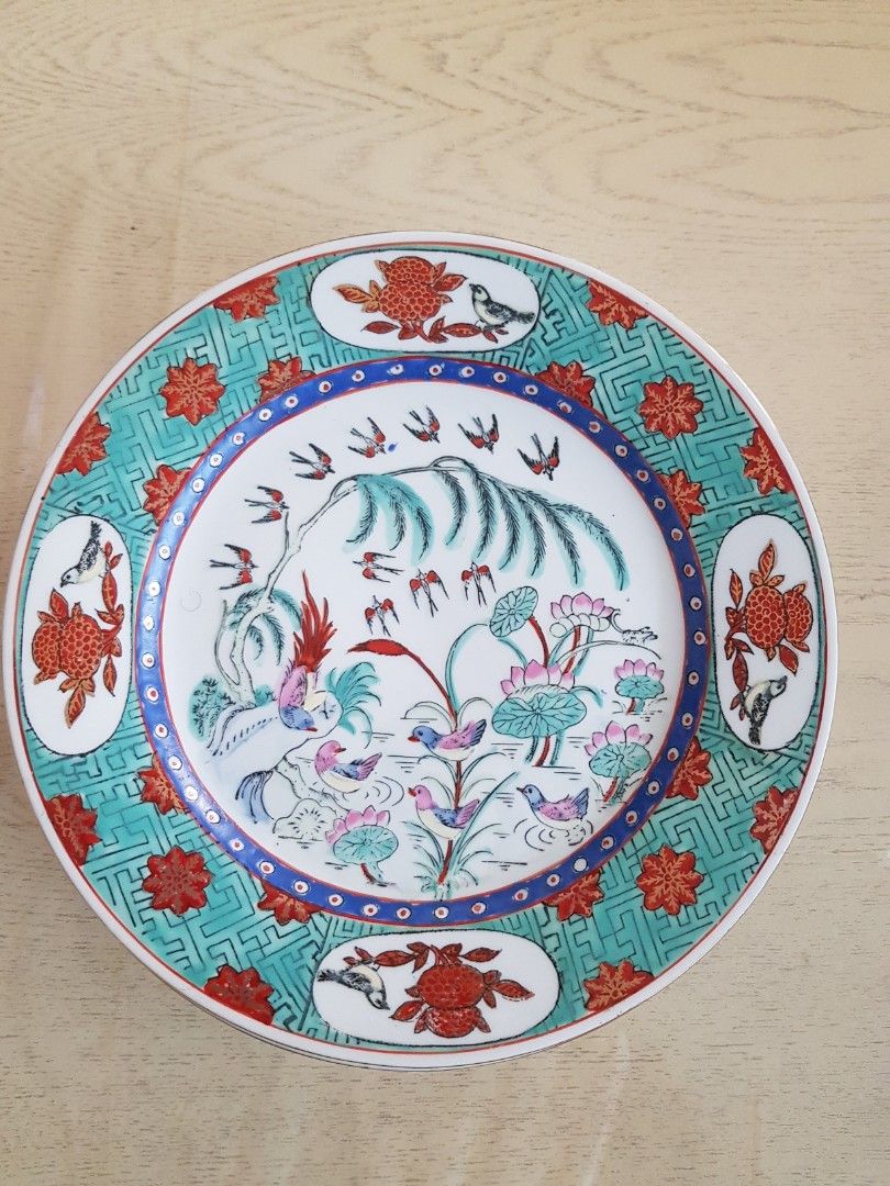 Hand Painted Vintage Plates For Display