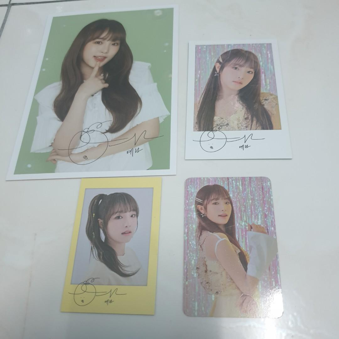 Iz*one Eyes On Me Photocard Postcard Polaroid Member Set IZONE