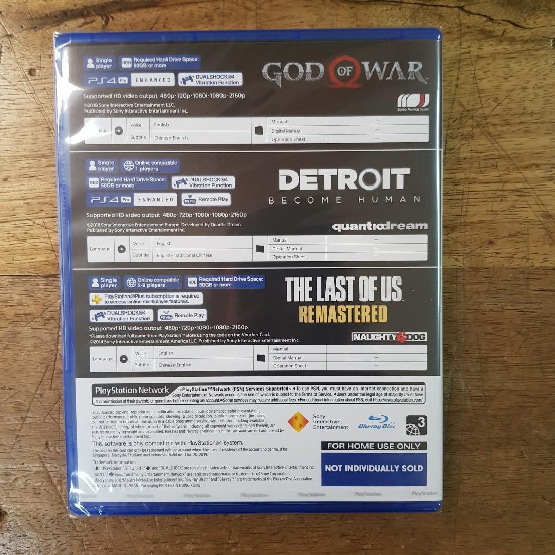 KASET PS4 BUNDLE HITS REGION 3