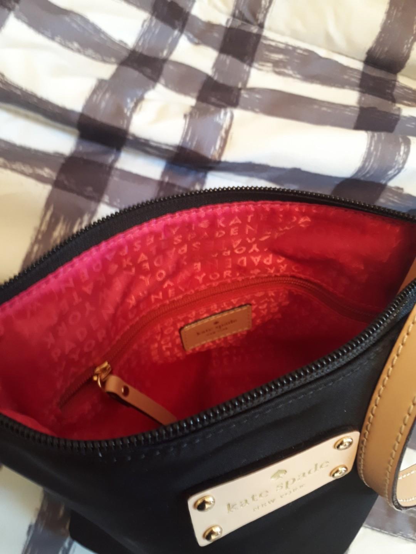 Kate Spade Black Nylon and Leather Kennedy Park Tess Crossbody Bag