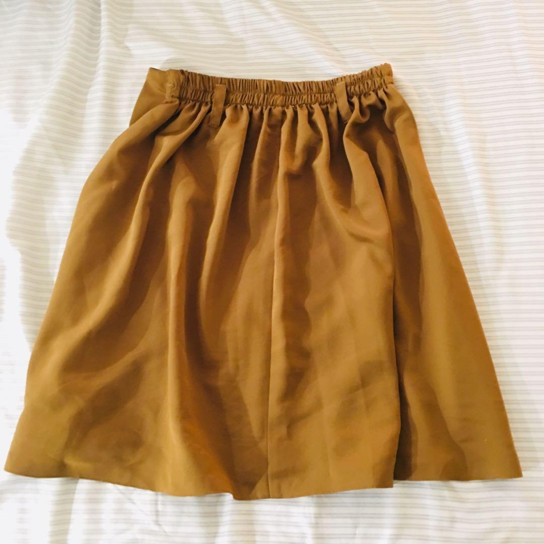 (reduced to $10) Knee length skirt with elastic waist
