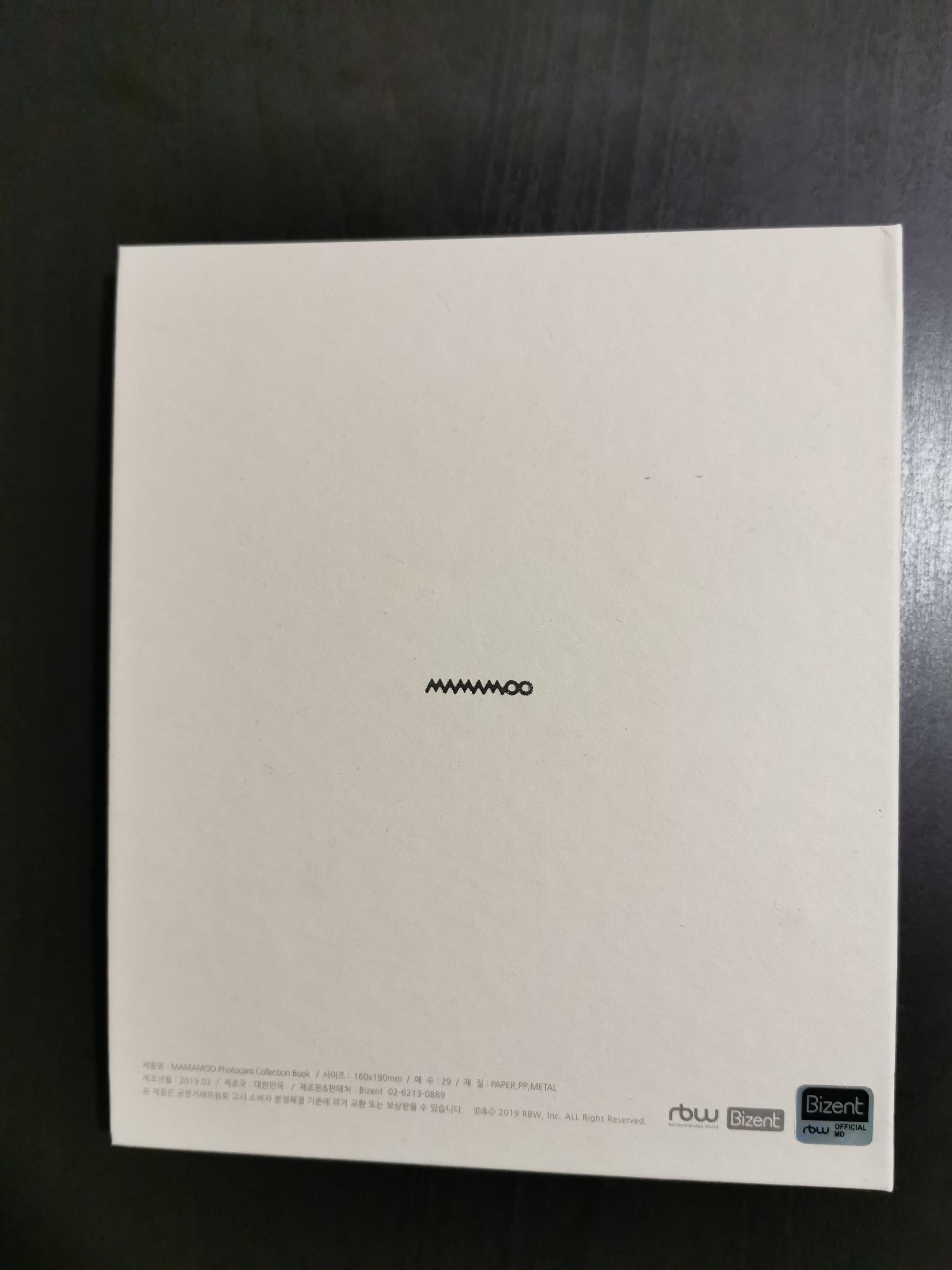 """MAMAMOO 2019 Concert """"4season F/W"""" Official Photocard Collection Book"""
