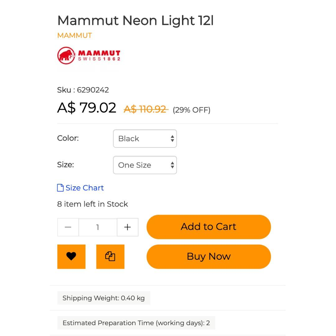 Mammut Neon Light 12l (Light Travel Backpack, perfect for an additional bag for travel)