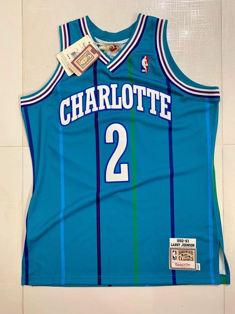 differently f99c3 b0379 Mitchell & Ness M&N AU Charlotte Hornets Larry Johnson No.2 size 40, M  Stripe NBA jersey (Nike, adidas, basketball)