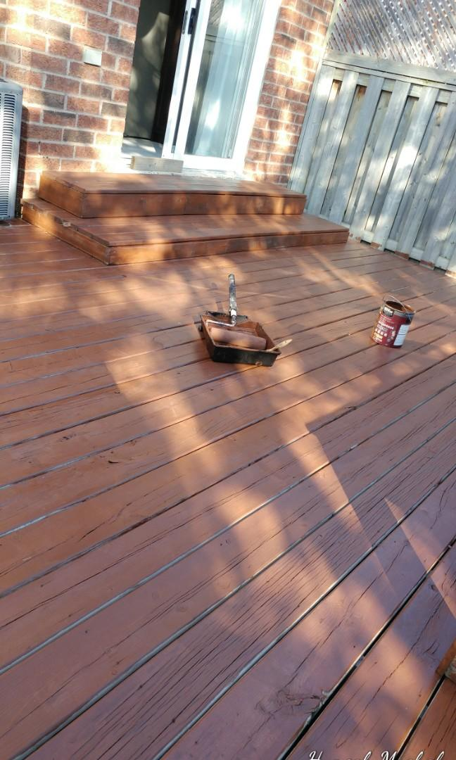 Painting decks and fences house interiors for afordable prices