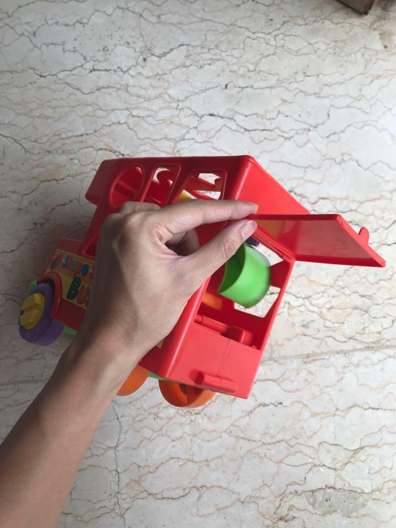 Preloved mainan anak shape sorting branded fun time