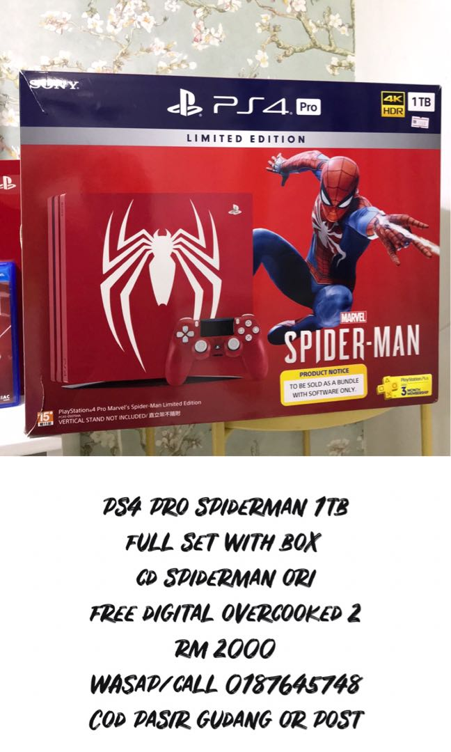 SONY PS4 PRO SPIDERMAN LIMITED EDITION