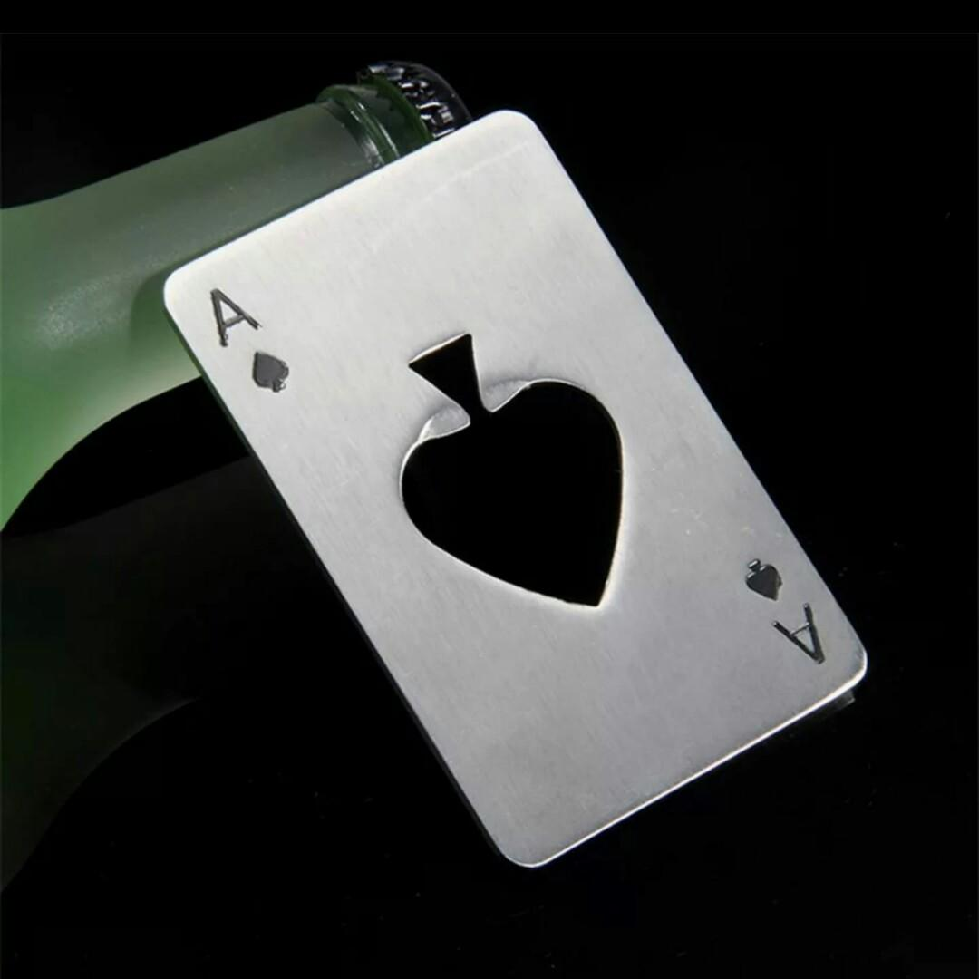 Spade A Poker Card Beer Bottle Opener Creative Stainless Steel Bottle Opener Silver Party Decor Bar Accessories Min New Food Drinks Beverages On Carousell