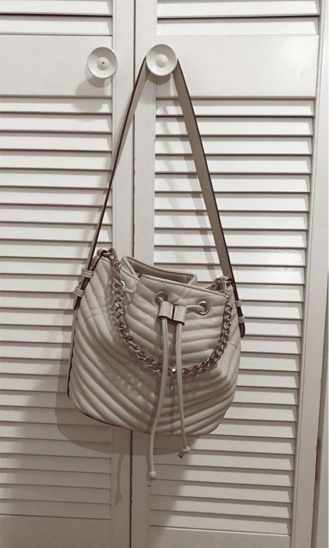 Steve Madden Marge Chevron Quilted Drawstring Bag (Frequently Sold Out Bag)